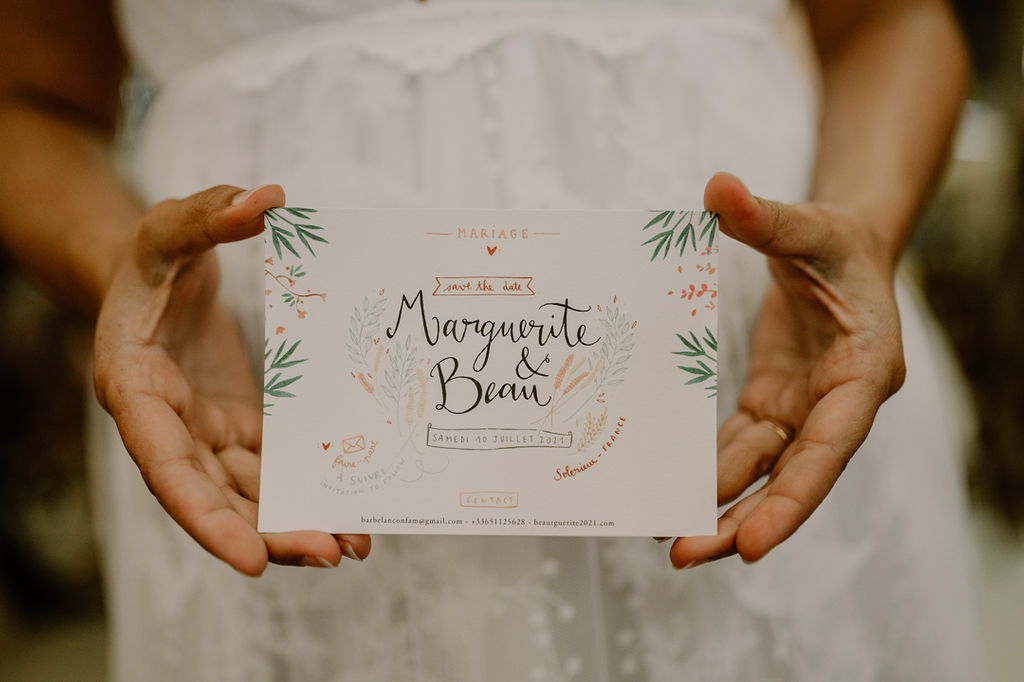 save the date mariage calligraphie